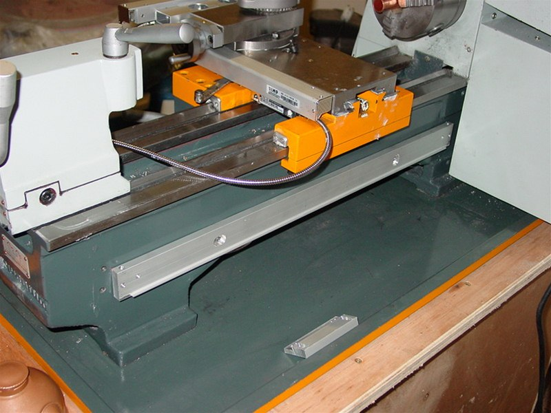 Mounting Sino glass scales on lathe bed – aluminium baseplate